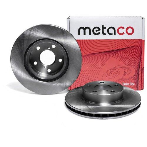 Диск тормозной передний вентилируемый Metaco 3050-195