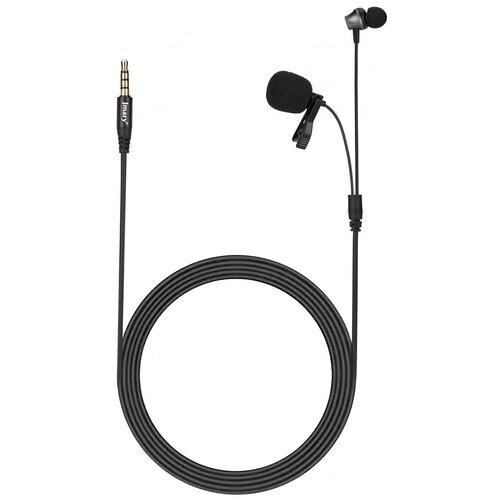 Микрофон JMARY MC-R5, петличный, Jack 3.5mm, черный