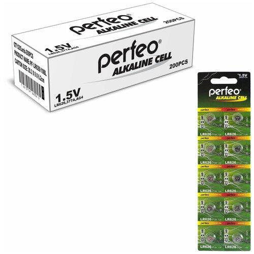 Фото - Батарейка Perfeo LR626/10BL Alkaline Cell 377A AG4, 200шт батарейка aa щелочная perfeo lr6 10bl super alkaline 10 шт