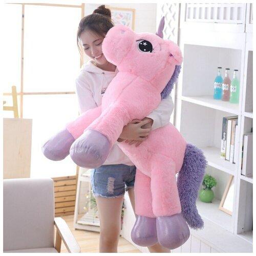 Плюшевая игрушка единорог большая 130см (розовый)