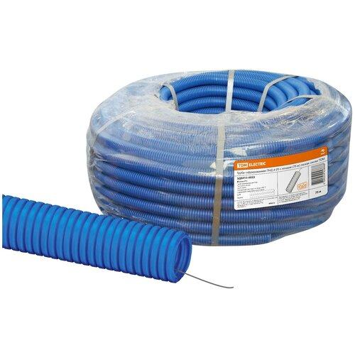 Труба гофрированная ПНД d 25 с зондом (75 м) легкая синяя TDM труба гофрированная пнд d 40 с зондом 25 м легкая оранжевая tdm
