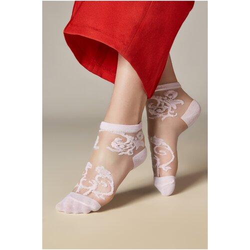 Носки женские с уплотненной стопой и вышивкой