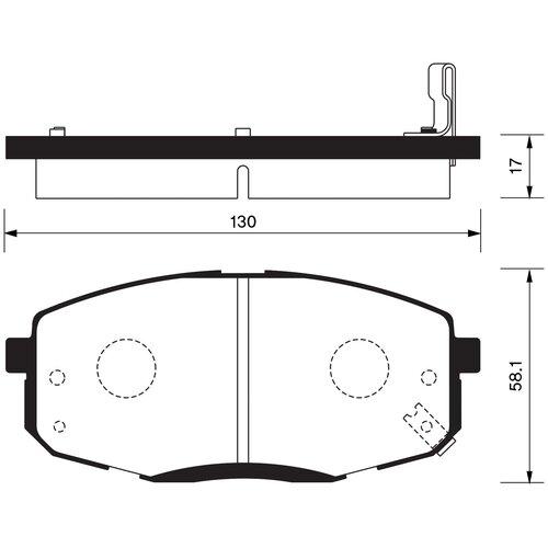 Дисковые тормозные колодки передние SANGSIN BRAKE SP1240 для Hyundai, Kia (4 шт.)