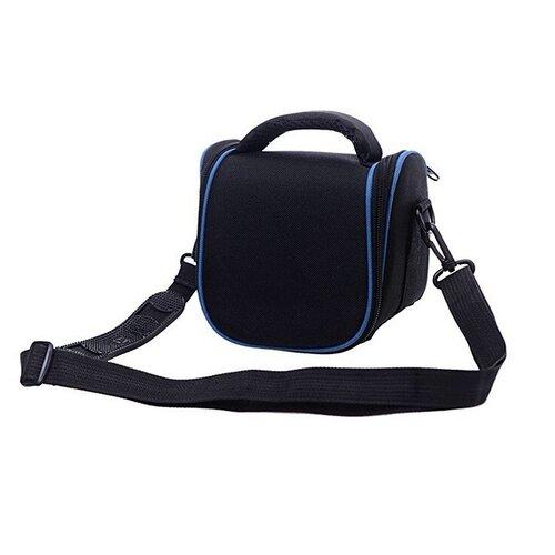 Чехол-сумка MyPads KTT-1533 для фотоаппарата Canon PowerShot SX60 HS / SX50 HS/G3 X/SX530 черный с синей окантовкой