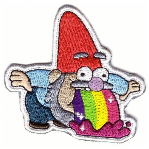 Наклейка-патч / многоразовая нашивка на одежду / декор для одежды (Гравити Фолз, Гном )