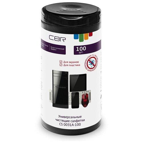 Фото - Универсальные чистящие салфетки с антибактериальным эффектом CBR CS 0031A-100 100шт 1780513 cbr набор для ухода за техникой cbr cs 0061 200 мл