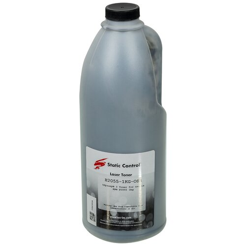 Фото - Тонер Static Control H2055-1KG-OS3 черный флакон 1000гр. для принтера HP LJ P205520302035 тонер static control mpt8 1kg для принтера hp laserjet 5000 4100 1200 1 кг