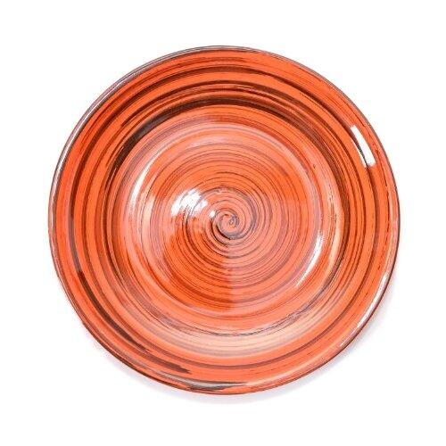 миска для вторых блюд борисовская керамика cтандарт диаметр 18 см Борисовская керамика Тарелка для вторых блюд 038088/021088/043088/044088, 18 см оранжевая полоска