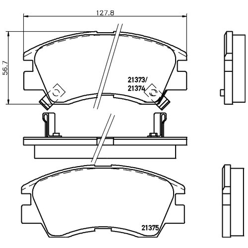 Фото - Дисковые тормозные колодки передние NISSHINBO NP3000 для Mitsubishi L200, Mitsubishi L300, Mitsubishi Pajero, Mitsubishi Delica (4 шт.) дисковые тормозные колодки передние trw gdb3435 для mitsubishi pajero sport mitsubishi montero mitsubishi l200 4 шт