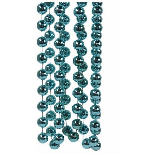 Бусы пластиковые гигант, цвет: бирюзовый, 20 мм, 2,7 м, Kaemingk 001849