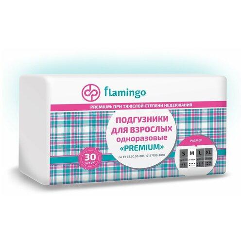 Фото - FLAMINGO PREMIUM Подгузники для взрослых размер M (30 шт/уп) подгузники для взрослых id подгузники для взрослых slip basic m 30 шт