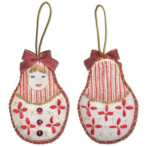 Купить Набор для вышивания PANNA IG-1272 ( ИГ-1272 ) Новогодняя игрушкаМатрёшка 4 шт., Наборы для вышивания