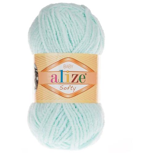 Купить Пряжа Alize Softy (Софти) 015-светлая мята 50г 115м, 1 шт.
