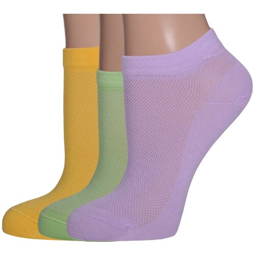 Комплект из 3 пар женских носков LORENZLine микс 3, размер 25 (37-38) комплект из 3 пар носков laredoute la redoute 35 38 синий