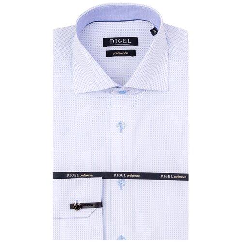 Рубашка Digel размер 46 белый/голубой