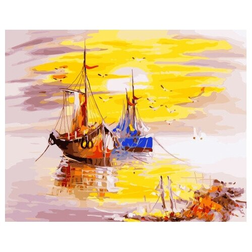 Картина по номерам GX 34107 Рыбацкие судна 40*50
