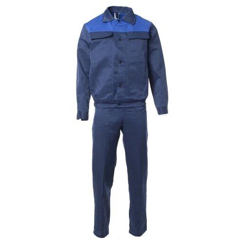 рубашка муж oodji lab цвет темно синий оптический белый 3l110247m 44425n 7910d размер 40 182 48 182 Костюм Спрут Стандарт-2 темно-синий/василек 48-50 182-188 см