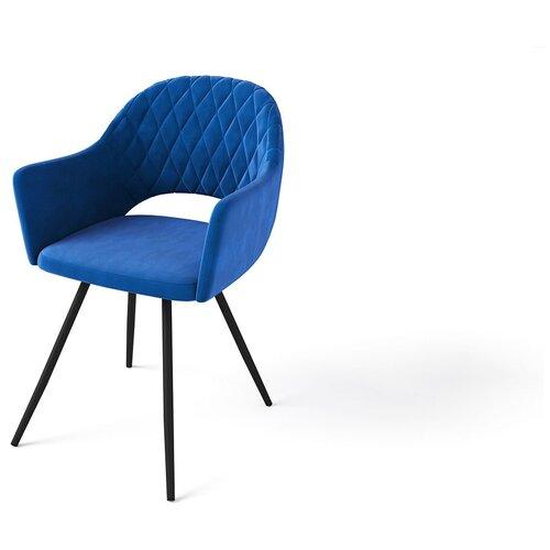 Evita/Кресло Жаклин тк.Премьер22 синий ,ноги чёрные/Стул Жаклин/ стул с подлокотниками/Кресло для кухни/Стул для кухни/Стул для гостиной/Кресло для гостиной/Стул/Кресло
