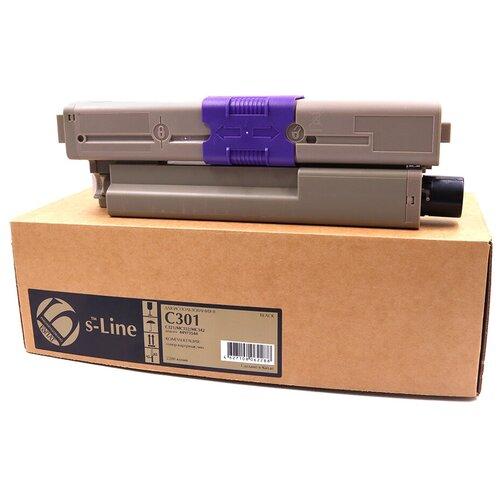 Фото - Тонер-картридж булат s-Line 44973544 для Oki C301, C321, MC342 (Чёрный, 2200 стр.) печатный картридж ep c301 321 331 511 531 mc352 362 562 44968301