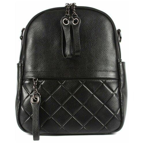 Рюкзак/Рюкзак женский/Рюкзак женский натуральная кожа/MAYGER/А-КС-121/черный/модель рюкзак/городской
