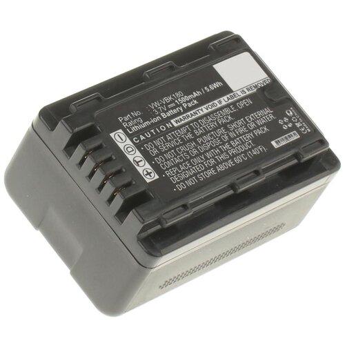 Аккумуляторная батарея iBatt 1500mAh для Panasonic HC-V500M, HC-V700M, HC-V100M, HC-V300M, HDC-H80, HDC-TM41, SDR-H86, SDR-T55