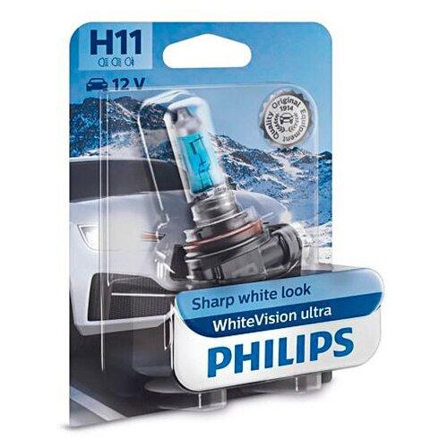 Лампа Philips WhiteVision Ultra H11 12V-55W (PGJ19-2) 12362WVUB1