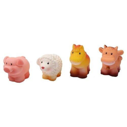 Купить Огонёк Набор резиновых игрушек «Домашние животные», ОГОНЁК, Игрушки для ванной