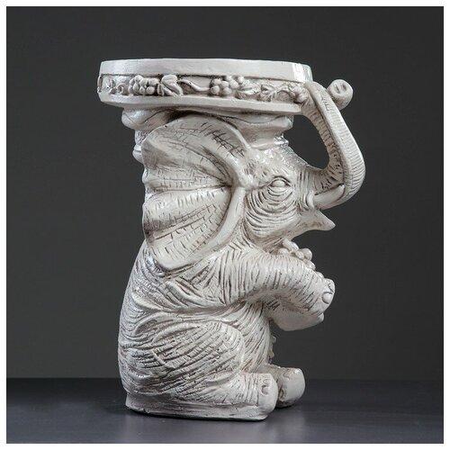 Хорошие сувениры Фигура - подставка Слон сидя 35х25х44см, состаренный фигура ангел карапуз сидя состаренный 19х22х24см 1659374