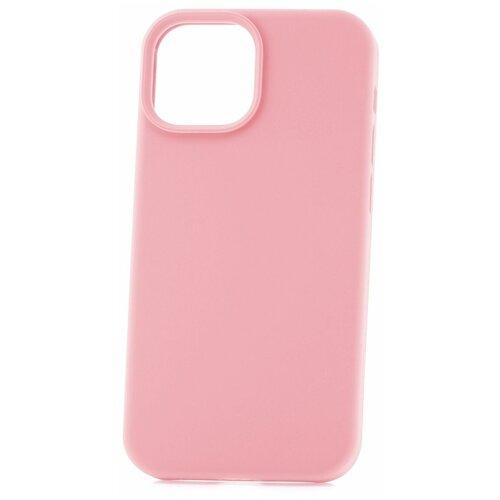 Чехол для Apple iPhone 13 mini Derbi Soft Plastic-3 светло-розовый / чехол на айфон / противоударный чехол на айфон / однотонный чехол / чехол с защитой углов / чехол для Эпл Айфон / бампер на айфон / защитный чехол для iPhone / бампер для iPhone / софт тач чехол / бархатный чехол на айфон / чехол с высоким бортиком для iPhone / чехол с защитой камеры на айфон / силиконовый чехол / пластиковый бампер / защита для айфон 13 мини / iphone 13 mini