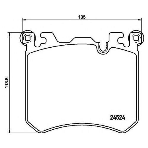 Дисковые тормозные колодки передние Textar 2452401 для Rolls-Royce Dawn, Rolls-Royce Ghost, Rolls-Royce Wraith, BMW X5 (4 шт.)
