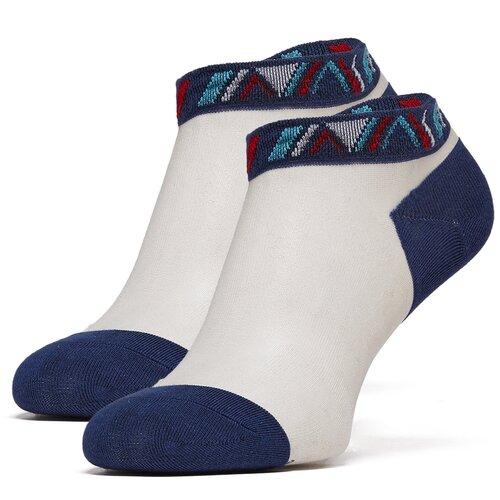 Укороченные сетчатые женские носки с орнаментом