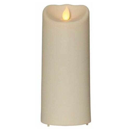 свеча светодиодная пластиковая с эффектом мерцающего пламени высота 8 5 см цвет бежевый 063 88 Свеча светодиодная пластиковая M-TWINKLE с эффектом живого пламени, высота - 17,5 см, цвет - бежевый, 063-67