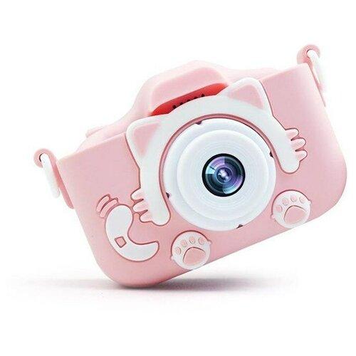 Фото - Детский цифровой фотоаппарат, розовый детский цифровой фотоаппарат собачка розовый kids camera pink