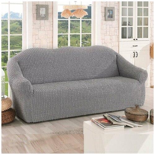 Фото - Чехол на диван двухместный Karna Турция - Серый диван диван турция 2 турция