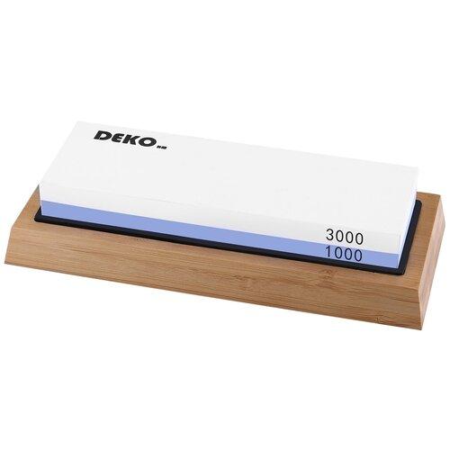 Фото - Точильный камень двухсторонний DEKO KS05 с держателем угла, зернистость 1000-3000, 18х6.2х2см камень точильный 3000 183x63x20