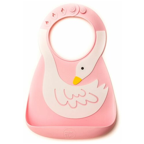 Купить Нагрудник детский Make my day Baby Bib Swan с кармашком No.8 Brads США, Нагрудники и слюнявчики