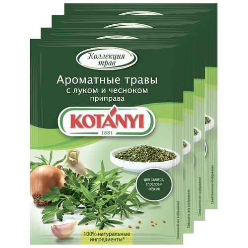 Приправа Ароматные травы с луком и чесноком KOTANYI, пакет 20г (x4) приправа для тушеных овощей и рагу kotanyi пакет 25г x4