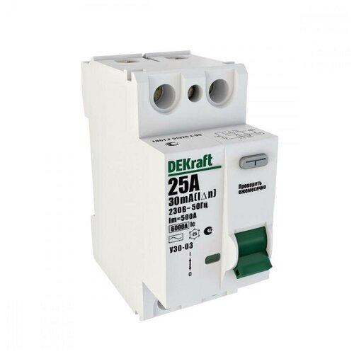Выключатель дифференциального тока (УЗО) 2п 16А 10мА тип AC 6кА УЗО-03 SchE 14050DEK