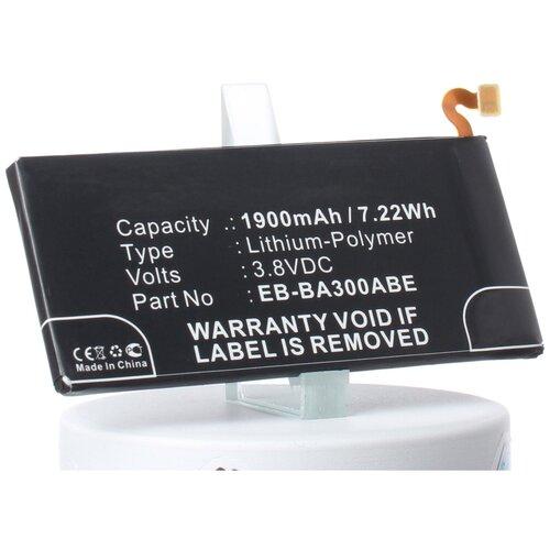Аккумуляторная батарея iBatt 1900mAh для Samsung SM-A300FU, SM-A300H/DS, SM-A3009, SM-A300G, SM-A300G/DS, SM-A300M, SM-A300M/DS
