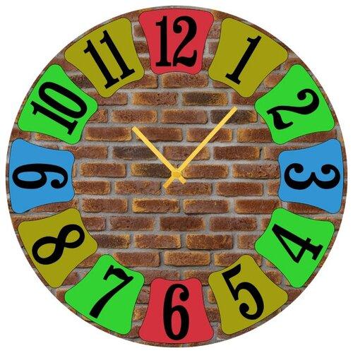 SvS Настенные часы SvS 3502026 Кирпичная стена