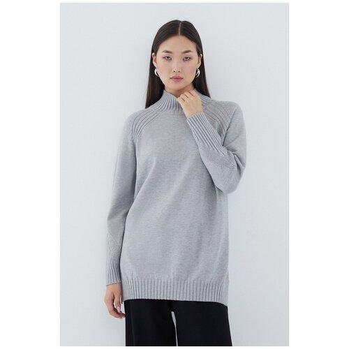 Удлиненный свитер 1329626827 Серый 42