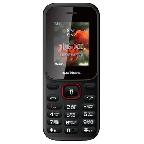 Мобильный телефон teXet TM-128 Черный недорого