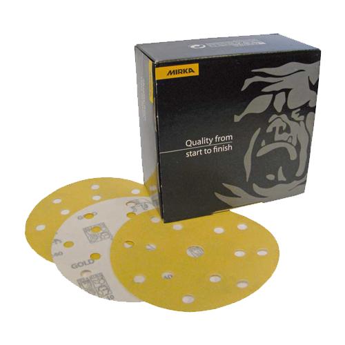 Абразивные круги MIRKA Gold 15 отверстий P120 150мм (упаковка 100шт.)