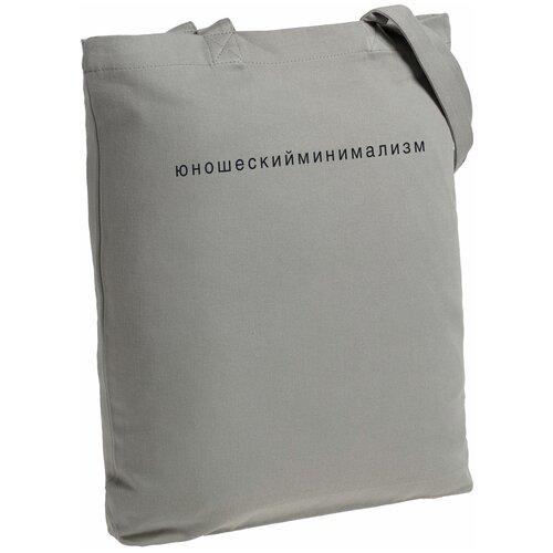 Сумка-шоппер «Юношеский минимализм», серая