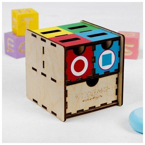 WoodLand Toys Комодик - сортер «Фигуры, цвет»