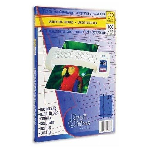 Пленка для ламинирования ProfiOffice, 100мкм, А3 (303x426мм), глянцевая, 100шт.