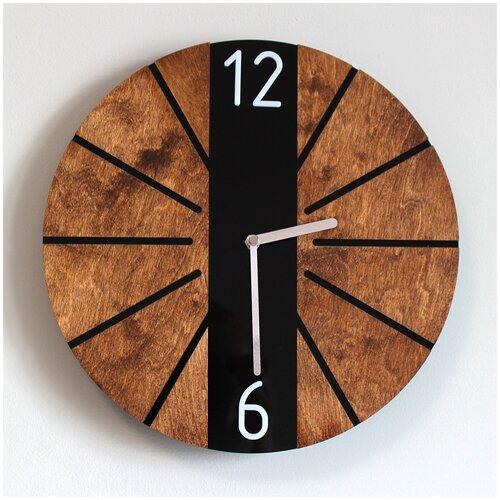 Круглые настенные часы в стиле эко