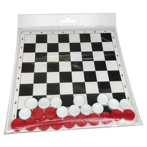 Настольная игра Шашки, в пакете арт 07142
