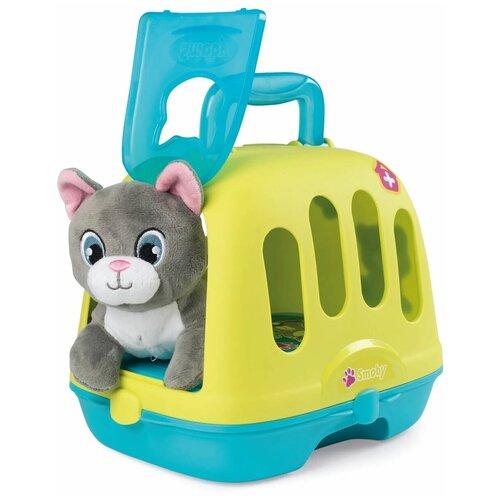 Ветеринарный чемоданчик - переноска с котенком, Smoby (игровой набор, 340300)
