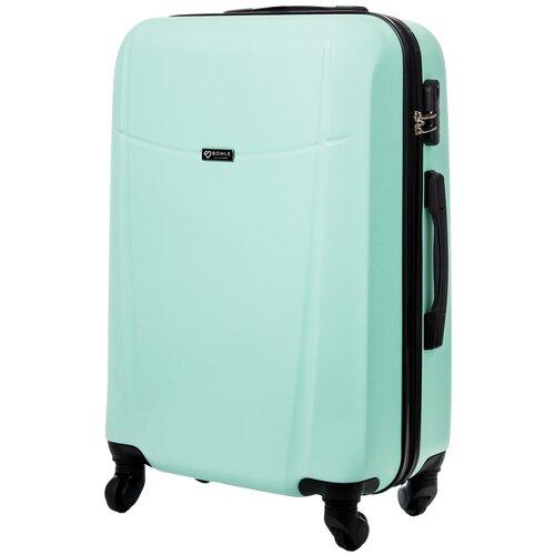 чемодан bonle премиум abs пластик салатовый размер s 55 см 37 л Чемодан Bonle, премиум ABS-пластик, Мятный, размер M, 65 см, 62 л